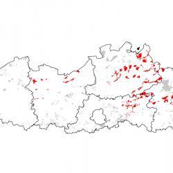 Kaart van de speciale beschermingszones voor: Drijvende waterweegbree