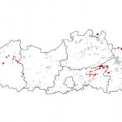 Kaart van de speciale beschermingszones voor: Bittervoorn