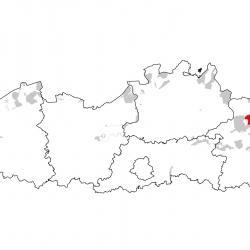 Vogelrichtlijngebieden voor Ortolaan. Rood: belangrijk broed-, trek- en/of overwinteringsgebied. Oranje: broed-, trek- en/of overwinteringsgebied met kleinere aantallen.