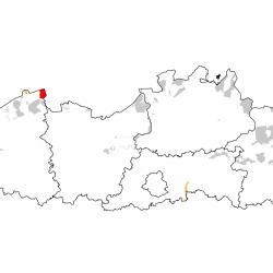 Vogelrichtlijngebieden voor Lepelaar. Rood: belangrijk broed-, trek- en/of overwinteringsgebied. Oranje: broed-, trek- en/of overwinteringsgebied met kleinere aantallen.