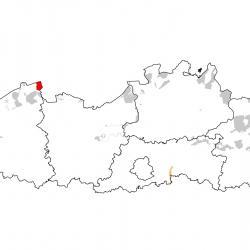 Vogelrichtlijngebieden voor kwak. Rood: belangrijk broed-, trek- en/of overwinteringsgebied. Oranje: broed-, trek- en/of overwinteringsgebied met kleinere aantallen.