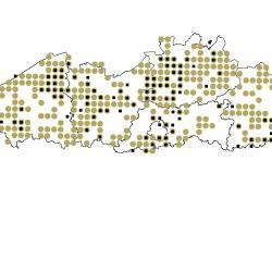 Verspreidingskaart (2007) Watervleermuis