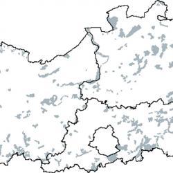 Kaart van de speciale beschermingszones voor: Midden-Europese kalkrijke beukenbossen behorend tot het Cephalanthero-Fagion