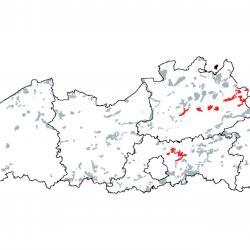 Kaart van de speciale beschermingszones voor: Alkalisch laagveen