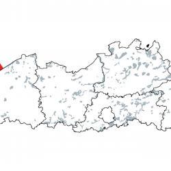 Kaart van de speciale beschermingszones voor:  Permanent met zeewater van geringe diepte overstroomde zandbanken